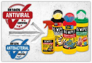 Big Wipes are antiviral, Produkte
